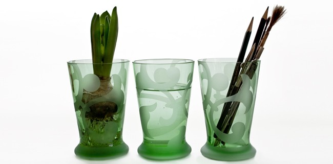 zartgrünes Allroundglas