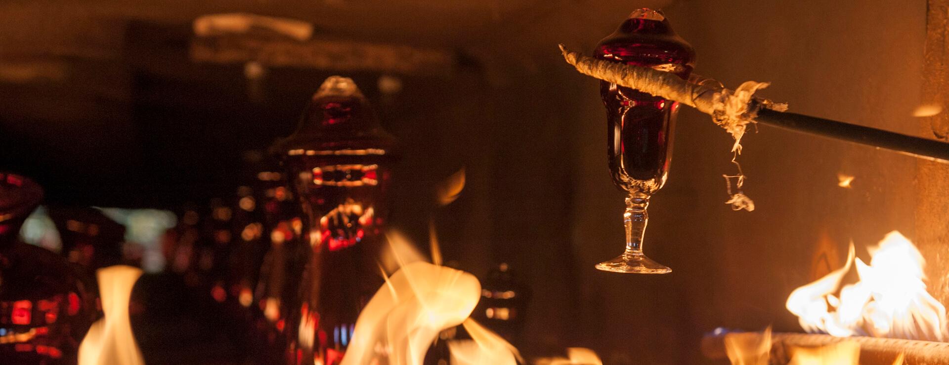 Brennvorgang Kristallglas