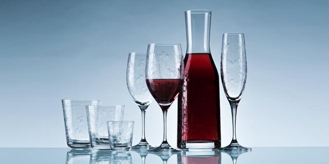 Edle Trinkgläser aus Kristallglas