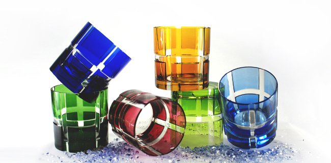 Whiskeybecher Quadrone Bleikristall