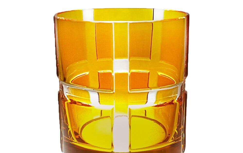 Whiskybecher bunt orange