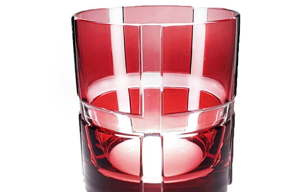 Whiskybecher bunt rot
