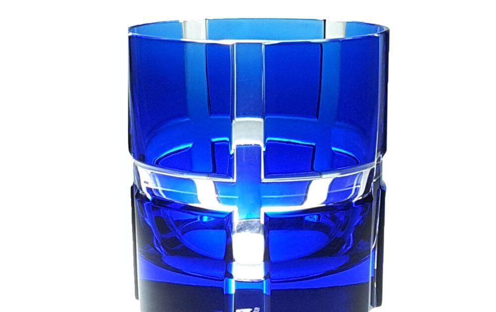 Whiskybecher bunt blau