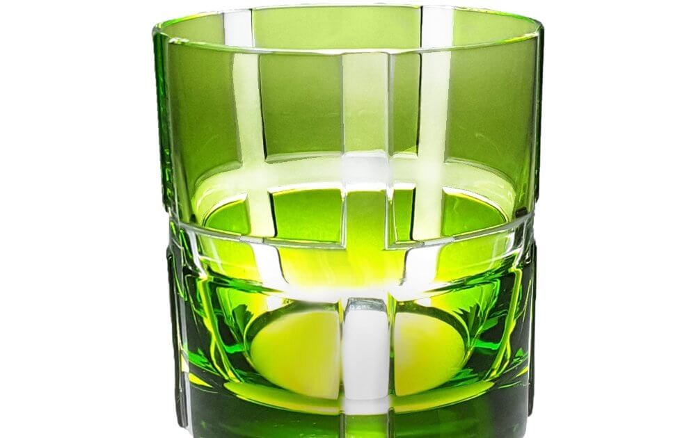 Whiskybecher bunt grün