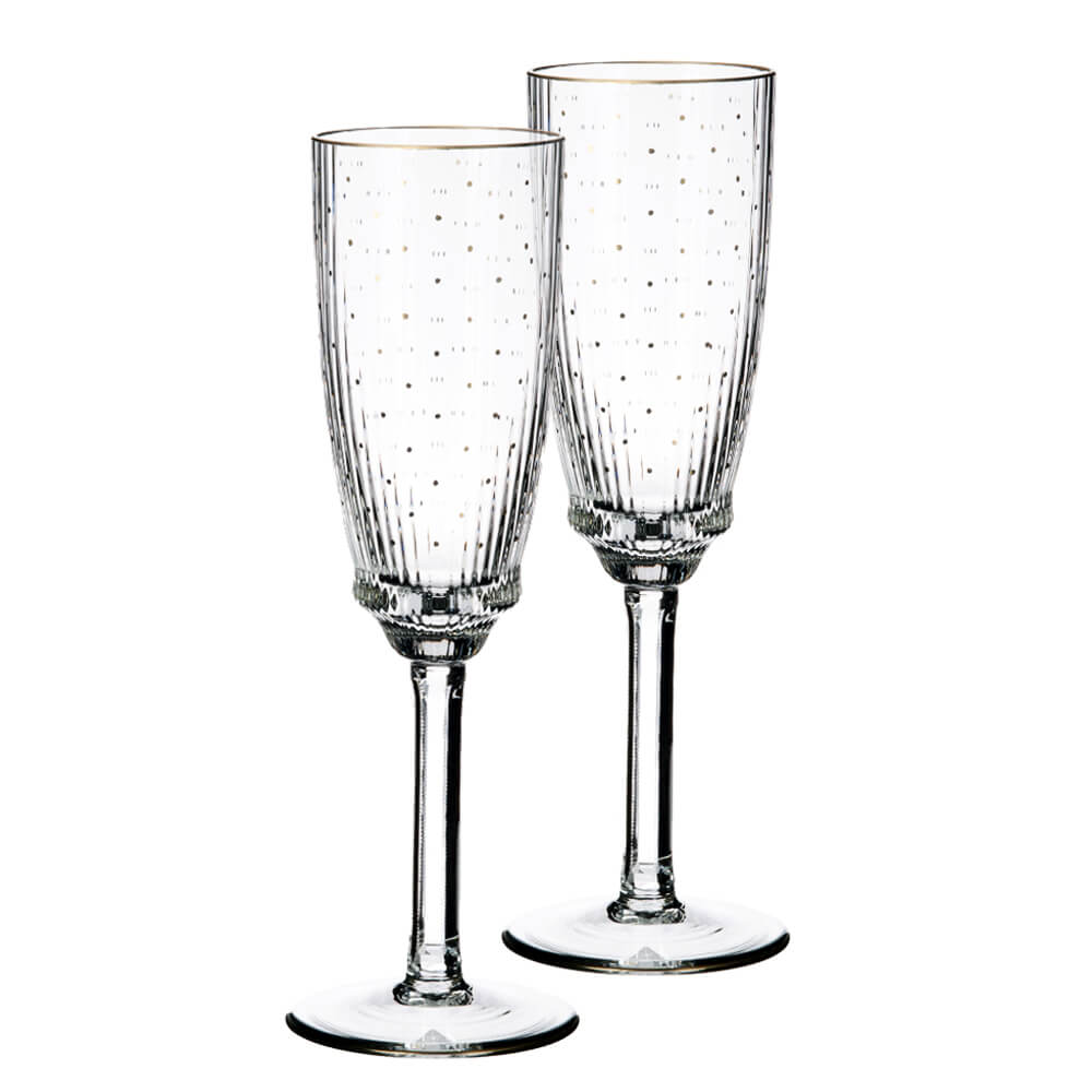 OertelCrystal wineglass with genuine gold