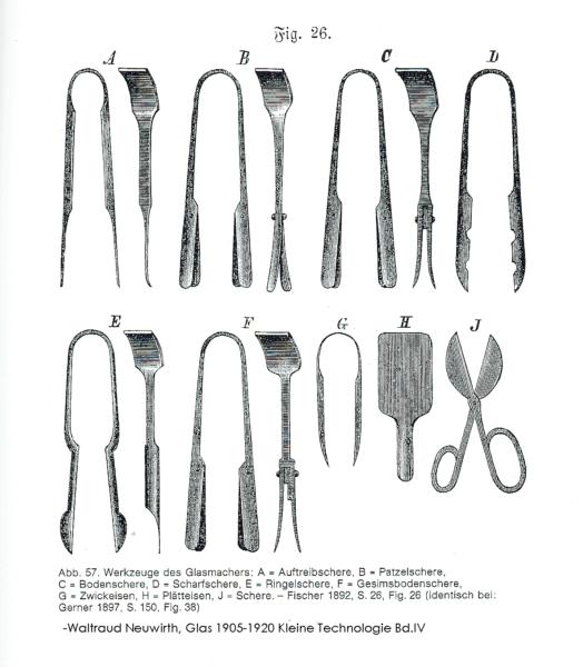 Werkzeuge zum Formen von Glas